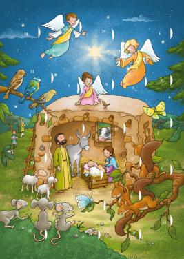 En stjerne lyser i natten - Julekalender
