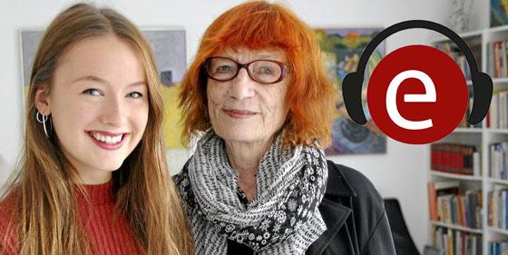 Forfatteren Birgit Strandbygaard og illustratoren Cecilia Fiona Strandbygaard