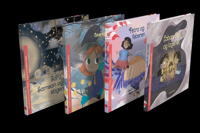 Tre bøger for børn fra tre til seks år