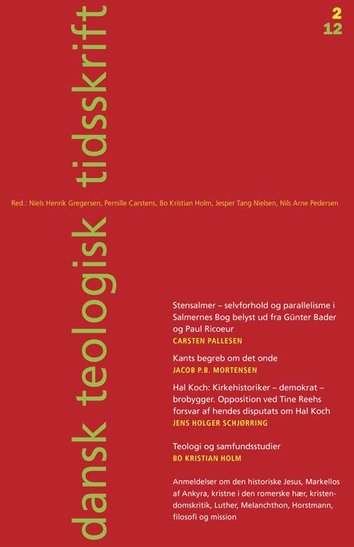 Dansk Teologisk Tidsskrift nr. 2, 2012