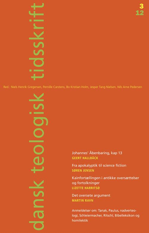 Dansk Teologisk Tidsskrift nr. 3, 2012