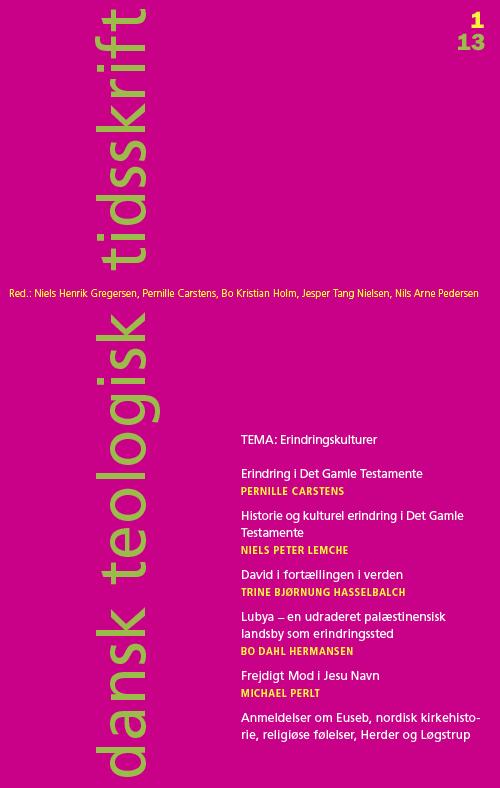 Dansk Teologisk Tidsskrift nr. 1, 2013