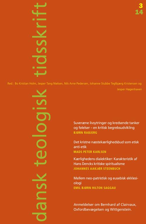 Dansk Teologisk Tidsskrift nr. 3, 2014