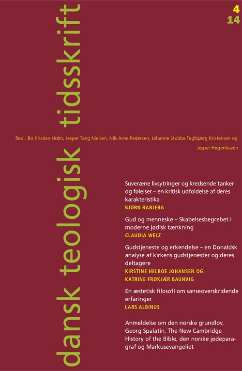 Dansk Teologisk Tidsskrift nr. 4, 2014
