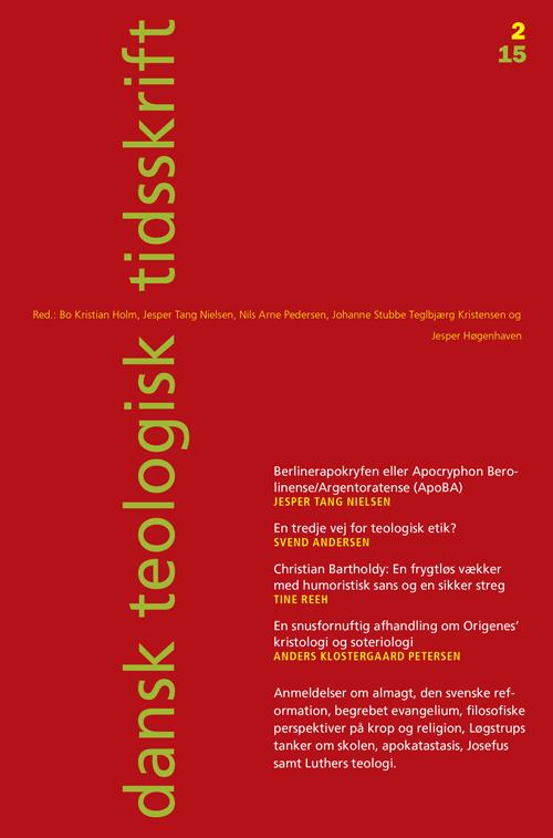 Dansk Teologisk Tidsskrift nr. 2, 2015