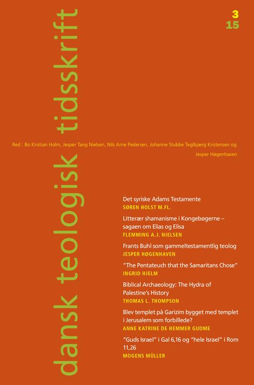 Dansk Teologisk Tidsskrift nr. 3, 2015