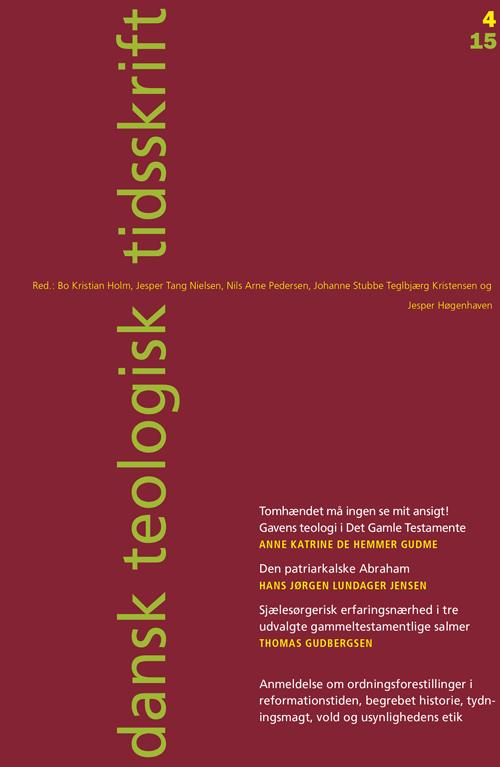 Dansk Teologisk Tidsskrift nr. 4, 2015