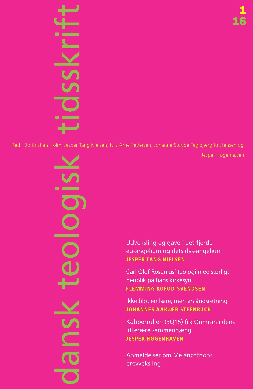 Dansk Teologisk Tidsskrift nr. 1, 2016