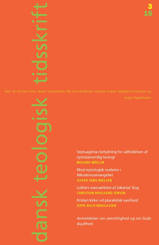 Dansk Teologisk Tidsskrift nr. 3, 2016