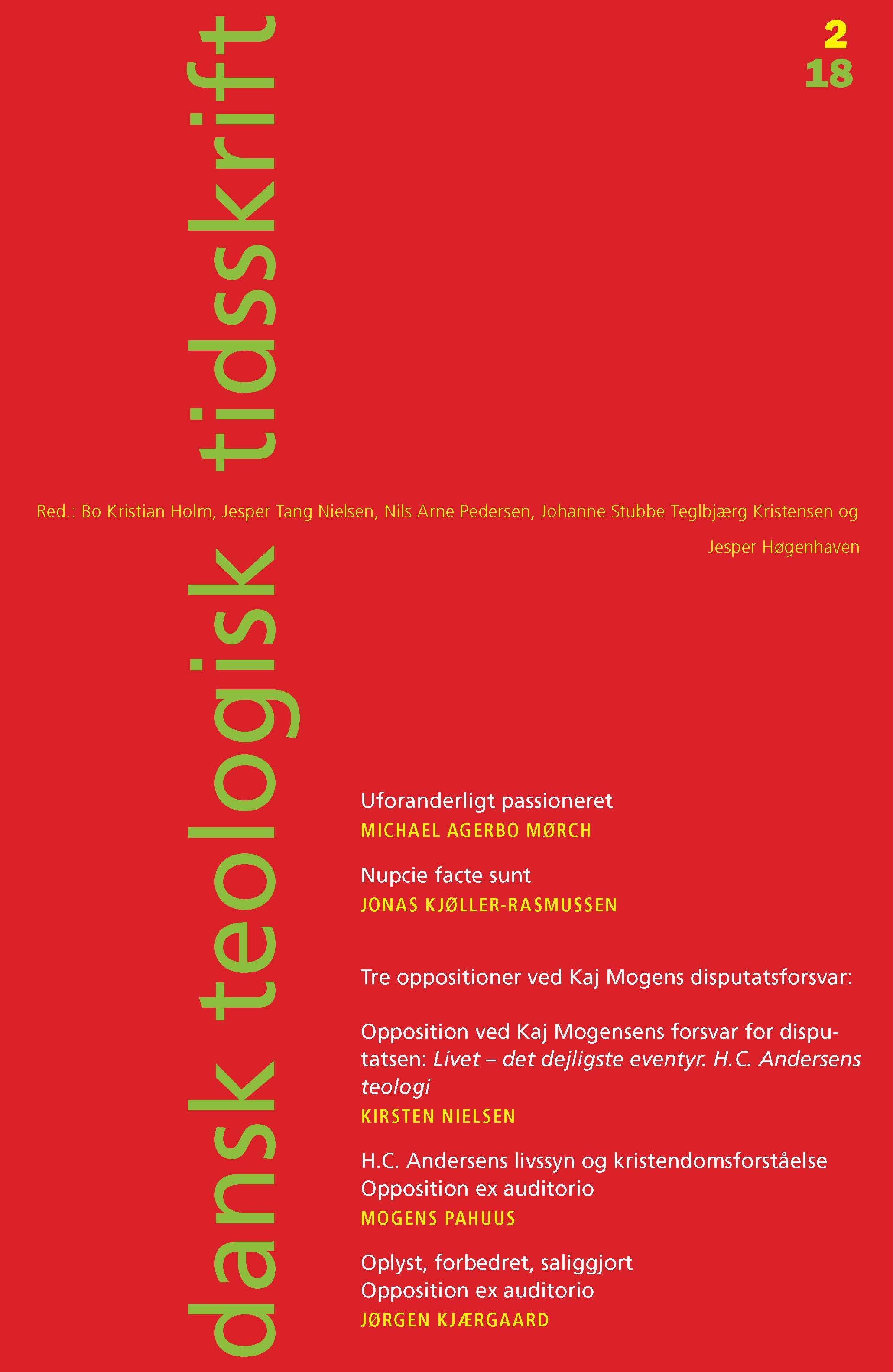 Dansk Teologisk Tidsskrift nr. 2, 2018