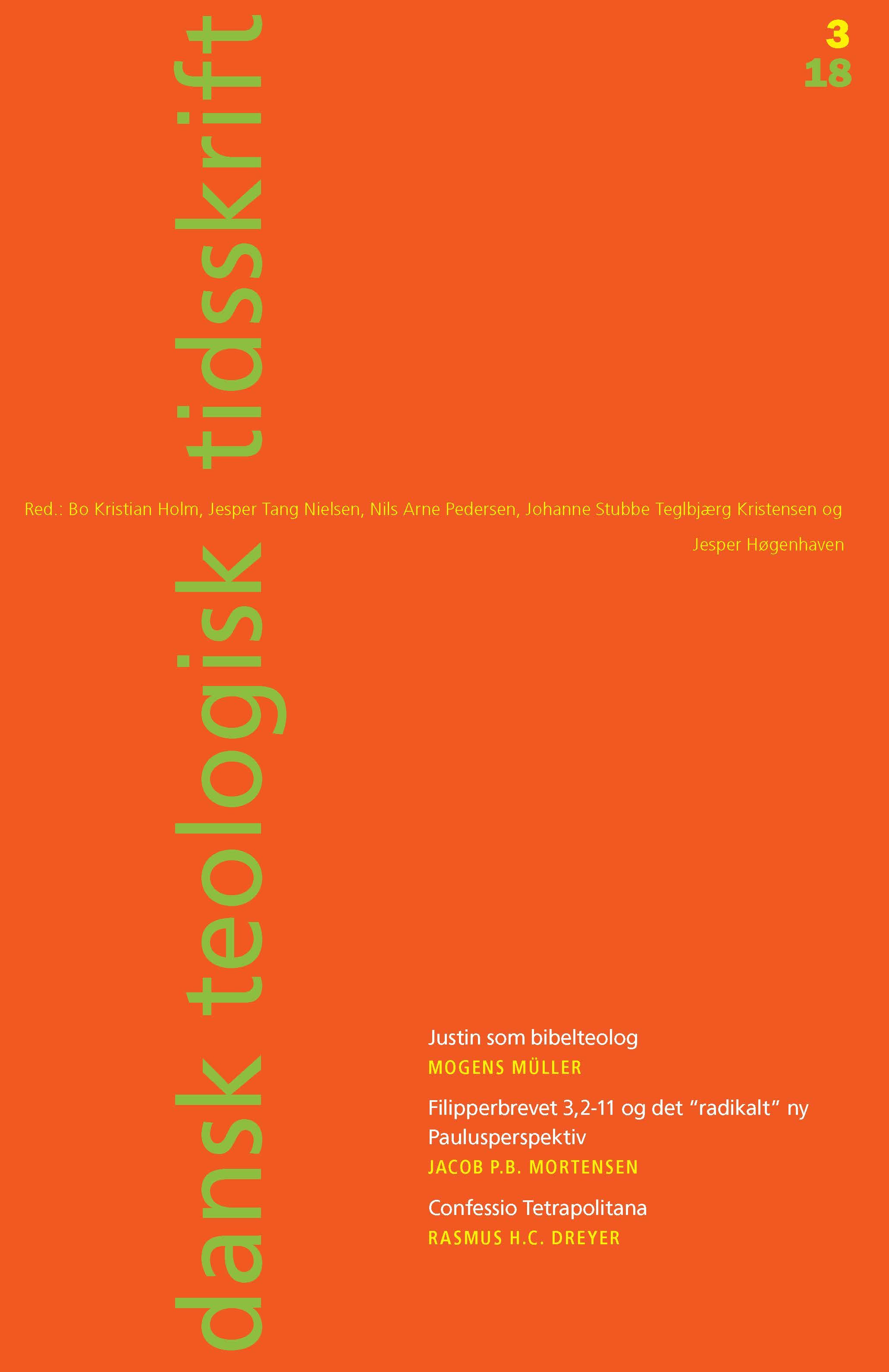 Dansk Teologisk Tidsskrift nr. 3, 2018