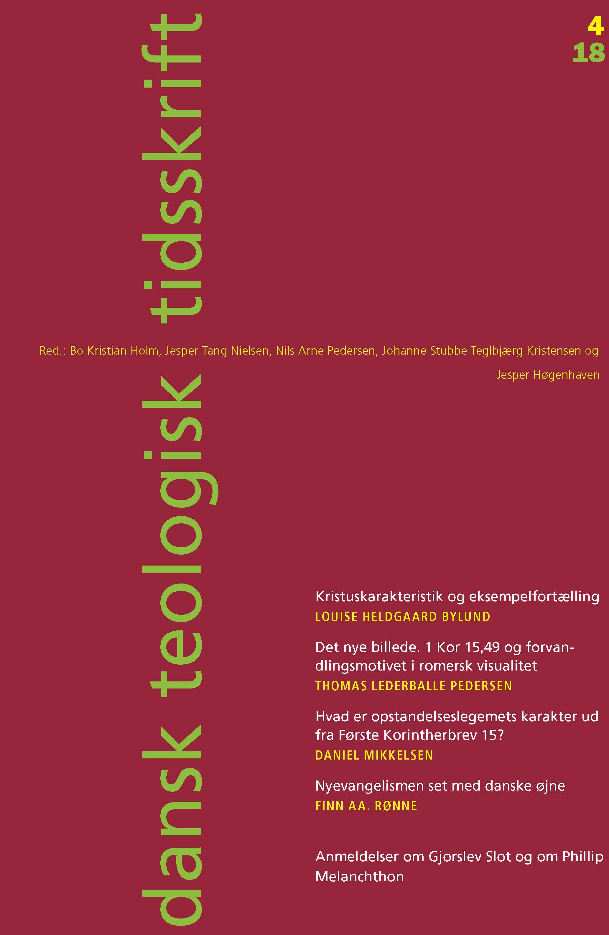 Dansk Teologisk Tidsskrift nr. 4, 2018