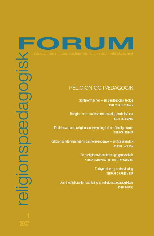 Religionspædagogisk Forum nr. 1, 2007