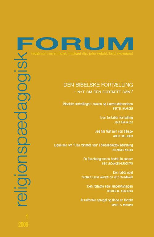 Religionspædagogisk Forum nr. 1, 2008
