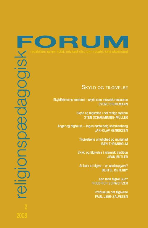 Religionspædagogisk Forum nr. 2, 2008