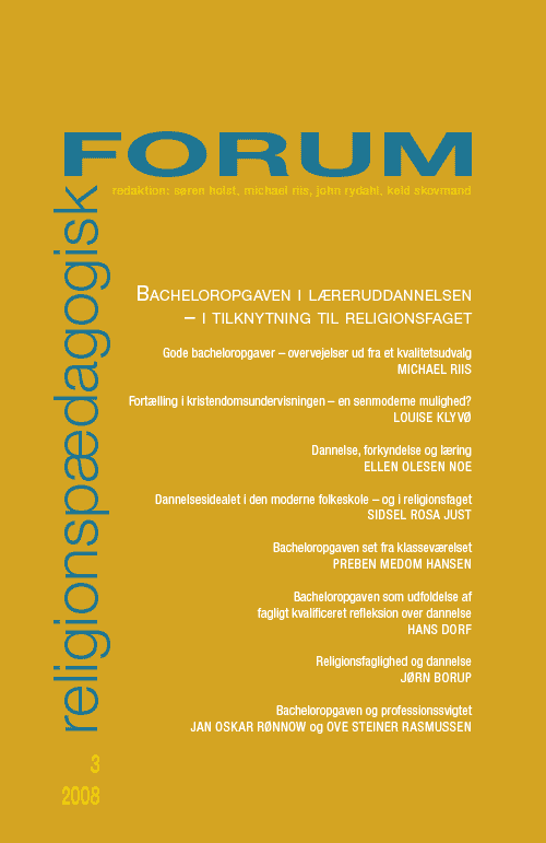 Religionspædagogisk Forum nr. 3, 2008