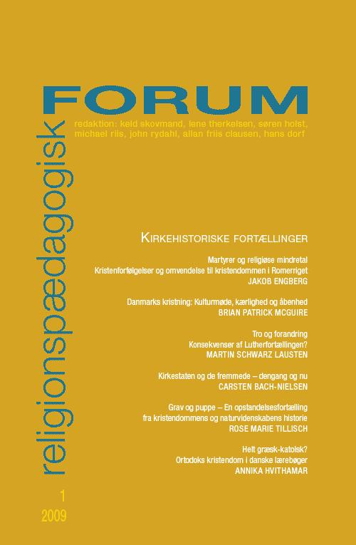 Religionspædagogisk Forum nr. 1, 2009