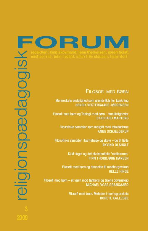Religionspædagogisk Forum nr. 3, 2009